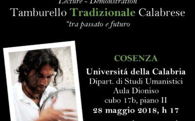 Lecture – Demonstration – Maggio 2018 – UniCal Cosenza